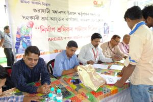 Protech organised a labour camp at Tulip Guwahati for construction workers.