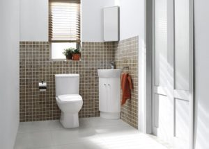 Indicative view of bathroom fittings