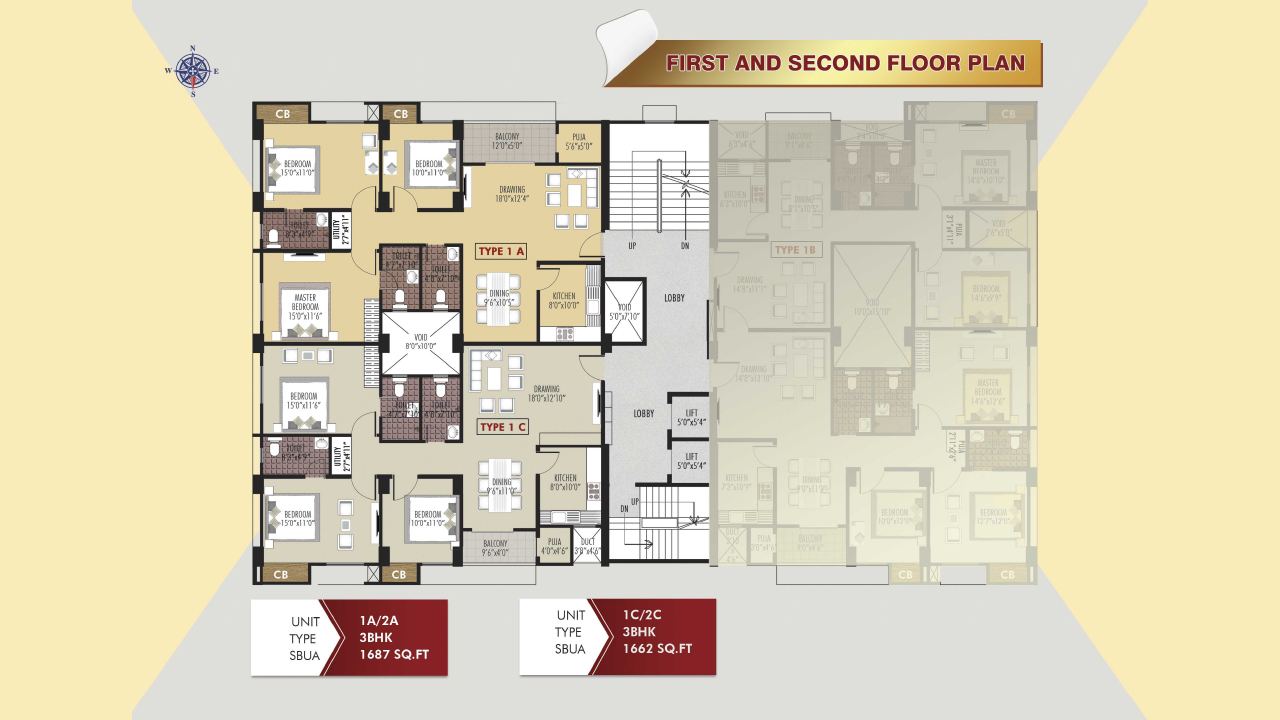 Protech Tara Hira First & Second Floor Plan
