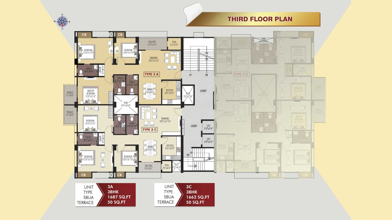 Protech Tara Hira Third Floor Plan