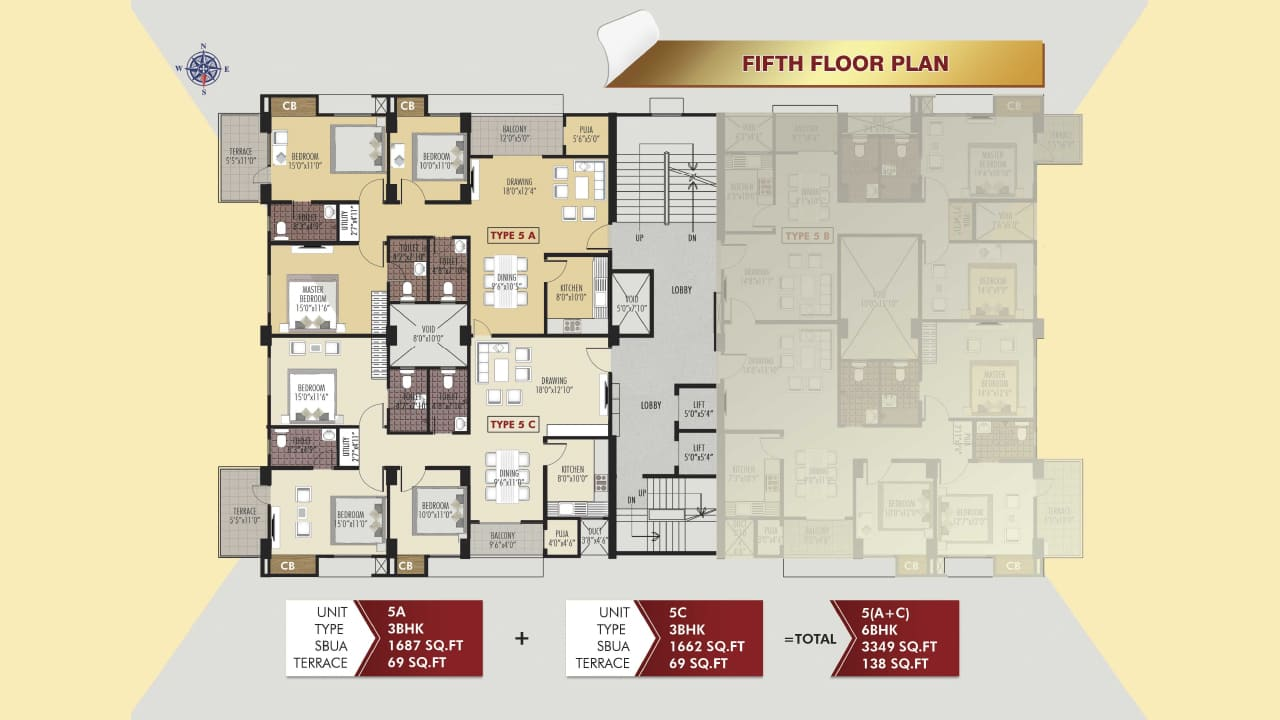 Protech Tara Hira Fifth Floor Plan