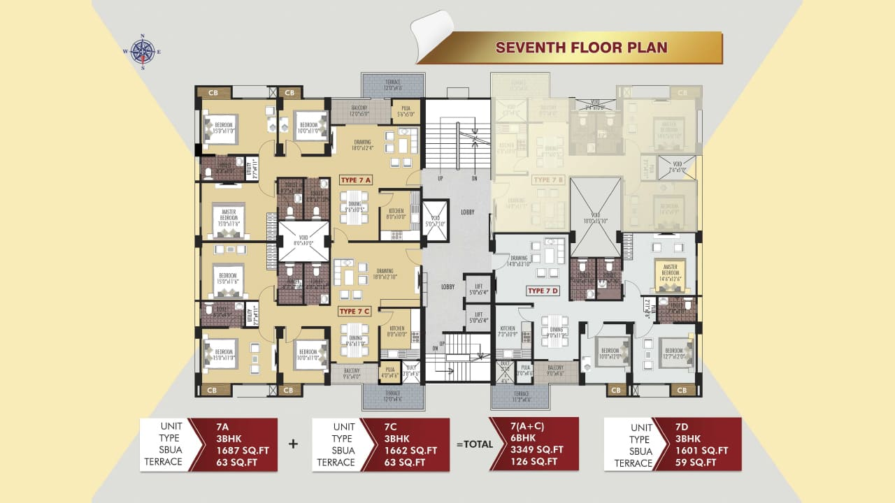 Protech Tara Hira Seventh Floor Plan