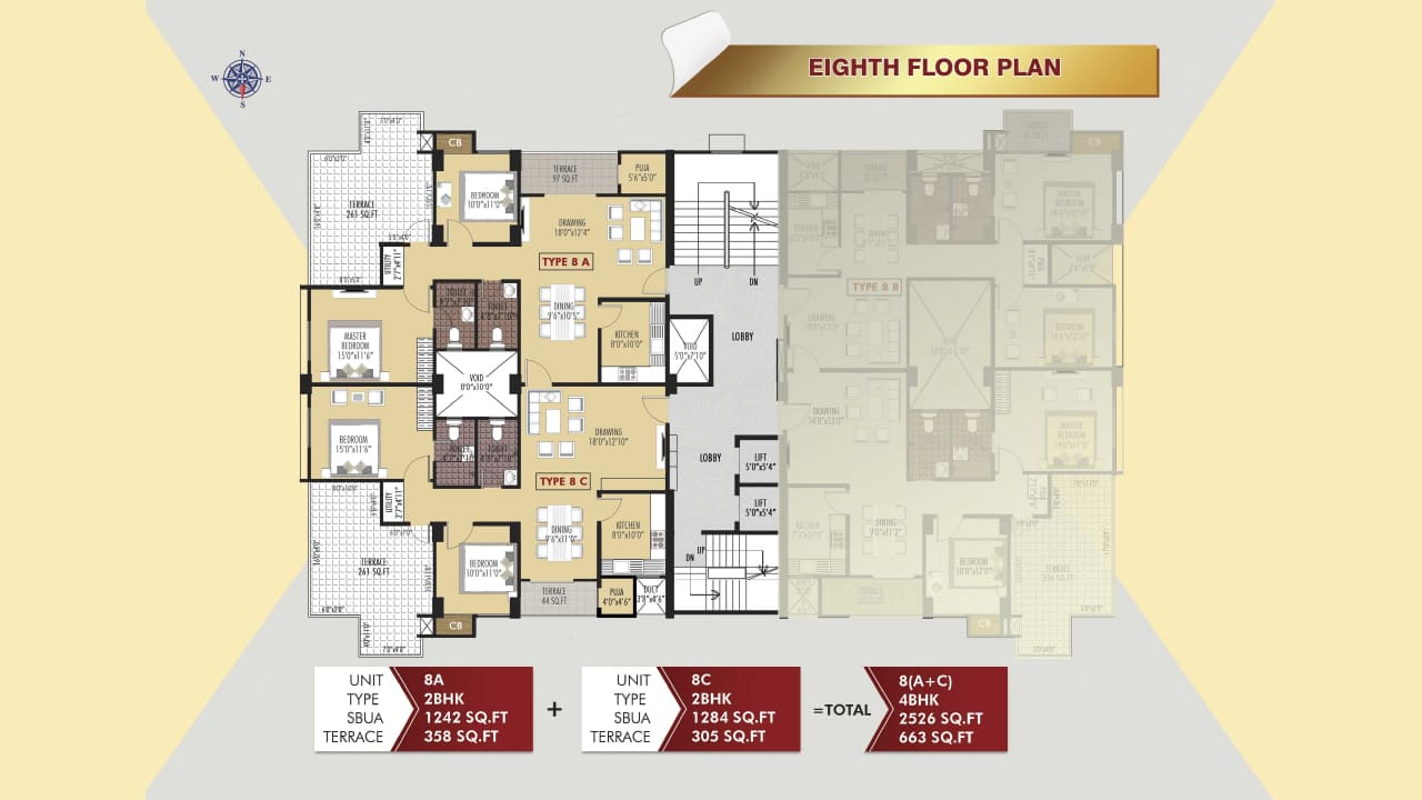 Protech Tara Hira Eighth Floor Plan