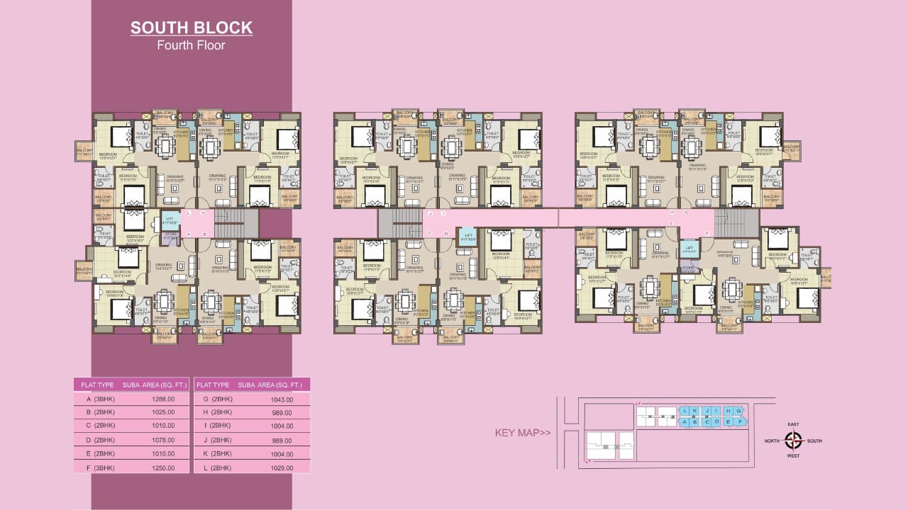 Protech Tulip South_Fourth Floor Plan