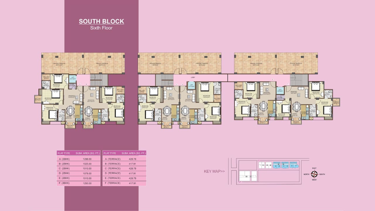 Protech Tulip South_Sixth Floor Plan