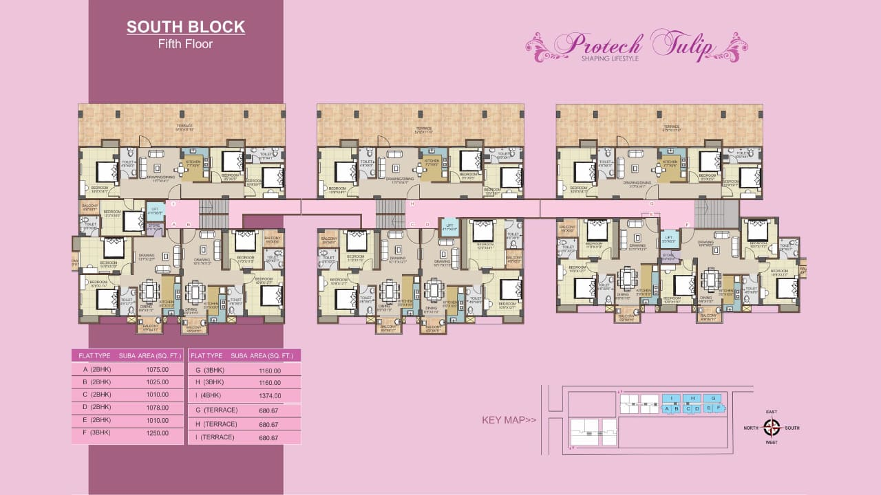 Protech Tulip South_Fifth Floor Plan